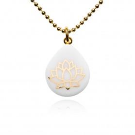 Halskette Tropfenform Lotusblüte