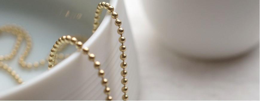 Kugelketten ohne Porzellan Anhänger